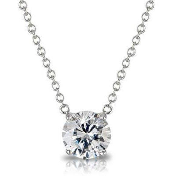 Jewelry - Women Necklace Pendant 1 Carats Round Cut Diamond